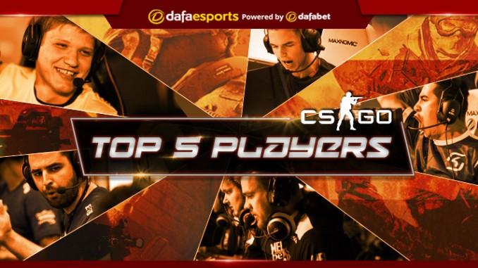 Top five players in CS:GO