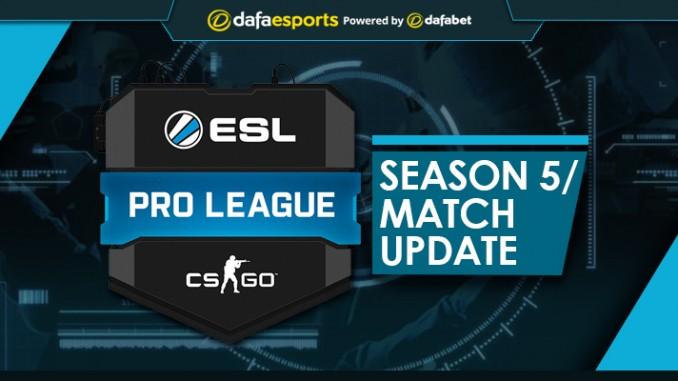 ESL Pro League Season 5 - Ongoing Match Update